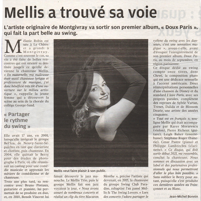 Article Presse Nouvelle Republique